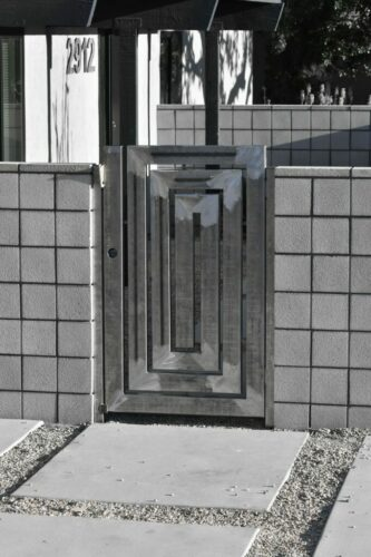 Cypress Block Wall and Custom Entry Gate