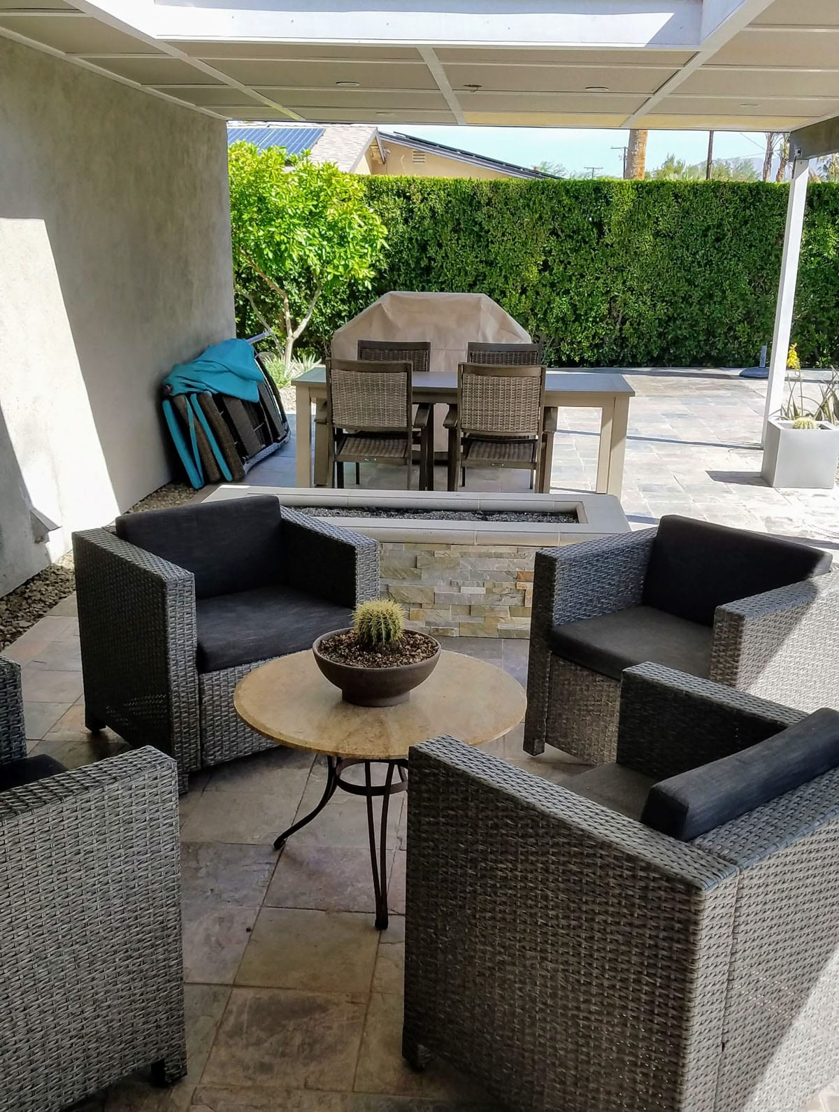 Cypress Patio and Custom Firepit
